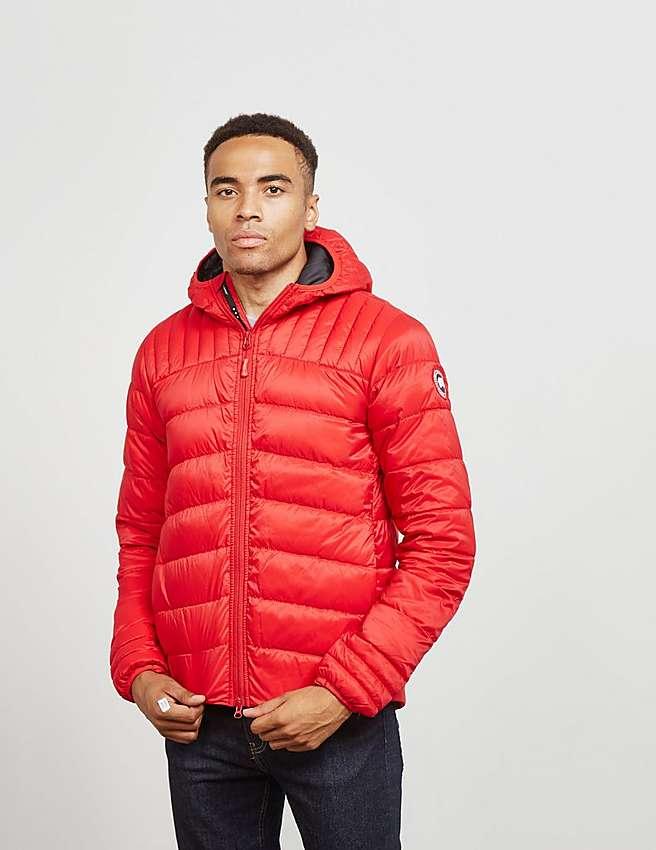 Canada Goose coats sale discounts - Red Canada Goose Brookvale Hooded Jacket | Tessuti