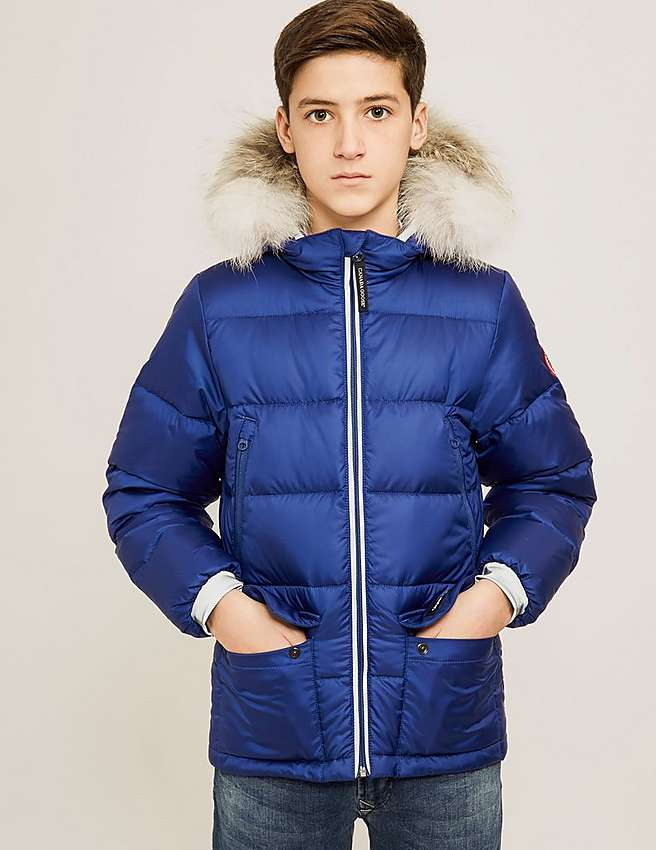 Canada Goose jackets replica authentic - Blue Canada Goose Kids' Oliver Jacket | Tessuti