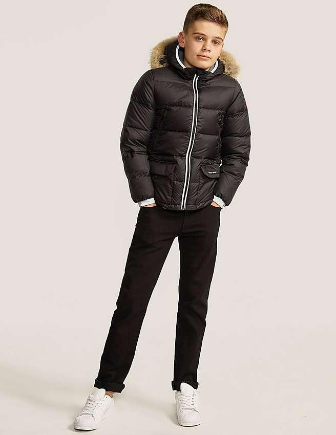 Canada Goose kids sale price - Black Canada Goose Kids' Oliver Jacket | Tessuti