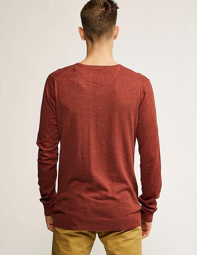 red scotch soda crew neck knit pullover tessuti. Black Bedroom Furniture Sets. Home Design Ideas