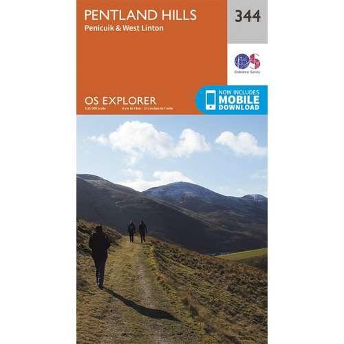 Explorer 344 1:25000 Pentland Hills, Edinburgh
