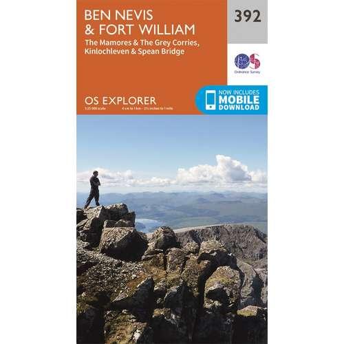 Explorer 392 1:25000 Ben Nevis & Fort William