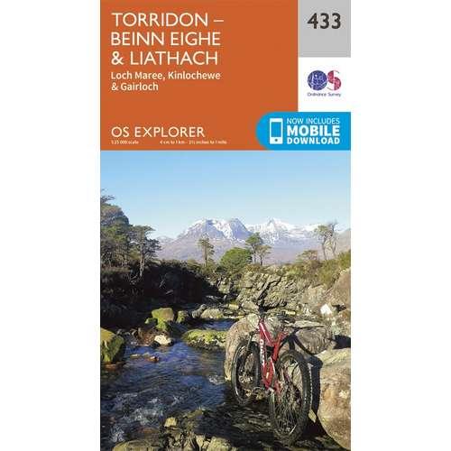 Explorer 433 1:25000 Torridon - Beinn Eighe & Liathach