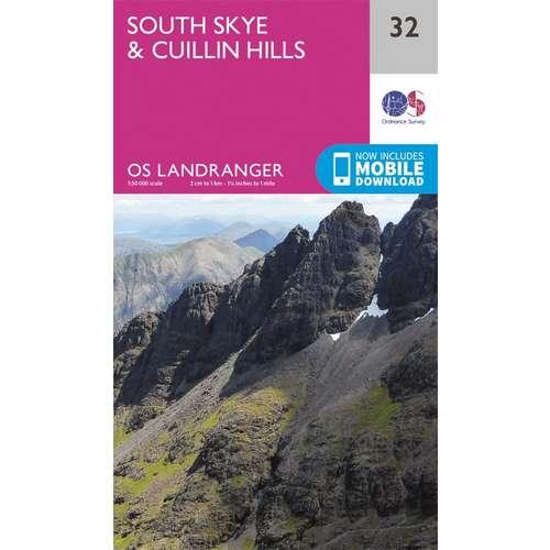 Landranger 32 1:50000 South Skye & Cuillin Hills