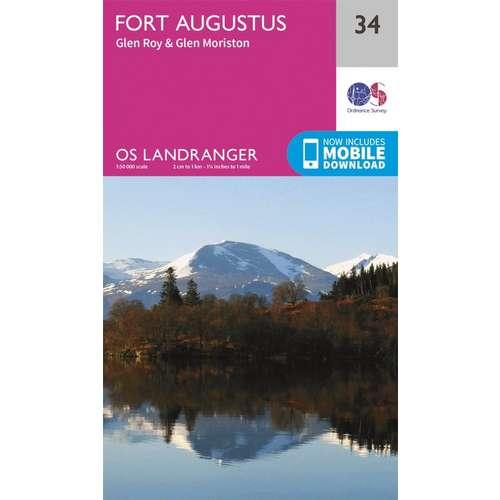 Landranger 34 1:50000 Fort Augustus