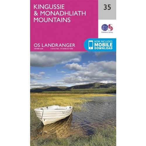 Landranger 35 1:50000 Kingussie & Monadhliath Mountains