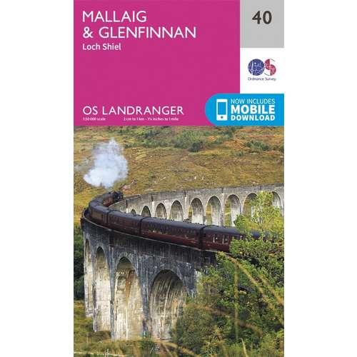 Landranger 40 1:50000 Mallaig & Glenfinnan