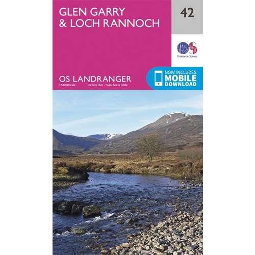 Landranger 42 1:50000 Glen Garry & Loch Rannoch
