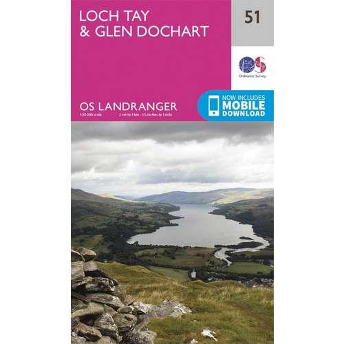 Landranger 51 1:50000 Loch Tay & Glen Dochart