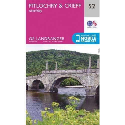 Landranger 52 1:50000 Pitlochry & Crieff