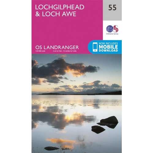 Landranger 55 1:50000 Lochgilphead & Loch Awe