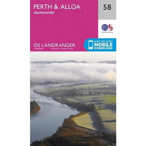 Landranger 58 1:50000 Perth & Alloa