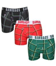 Men's Cotton Boxers 3 Pack Tartan