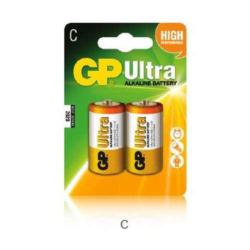 Ultra Alkaline C Batteries 2 Pack