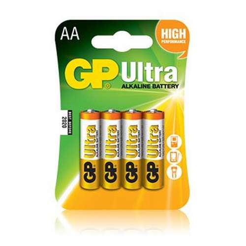 Ultra Alkaline AA Batteries 8 Pack plus 4 Free