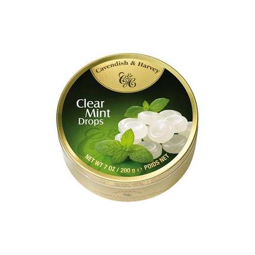 Tin Clear Mints Drops 200g