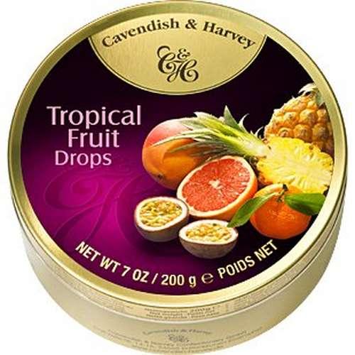 Tin Tropical Fruit Drops 175g