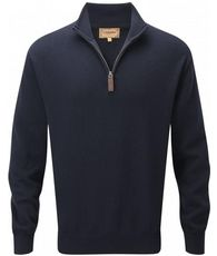 Men's Cashmere/Cotton 1/4 Zip Jumper