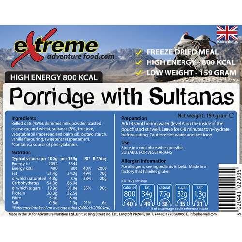 Porridge With Sultanas