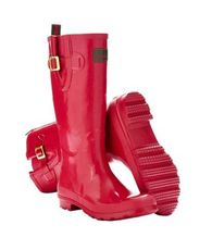 Womens Glossy Field Wellies