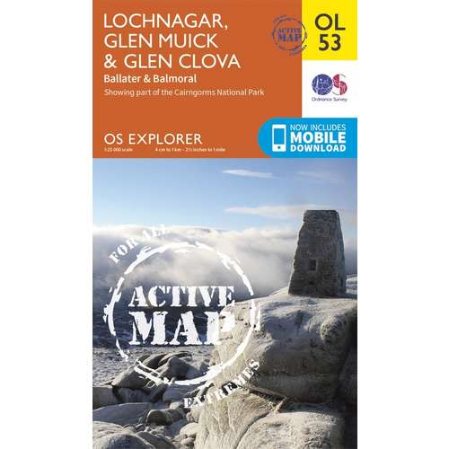 Lochnagar, Glen Muick & Glen Clova Map
