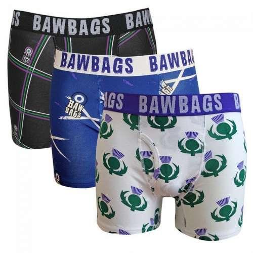 Men's Bawbags Triple Pack Scottish Boxers