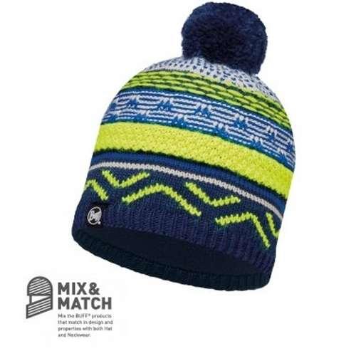 Knitted Polar Buff Bobble Hat