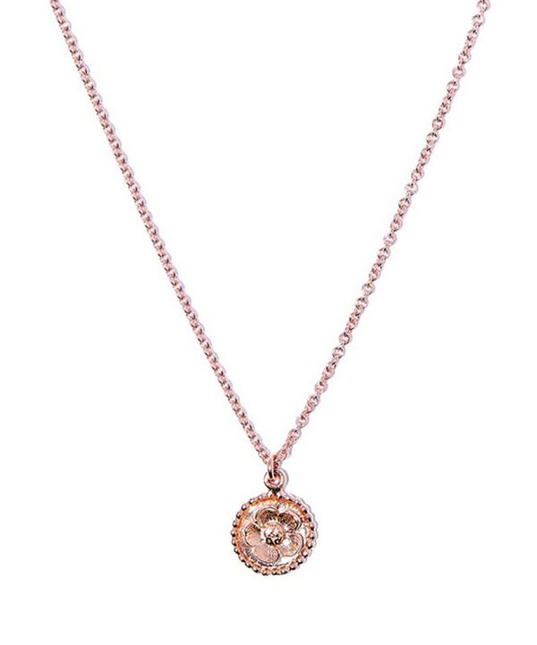 Rose Gold-Plated Small Round Buttercup Cameo Necklace