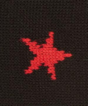 Star Print Cotton-Blend Socks