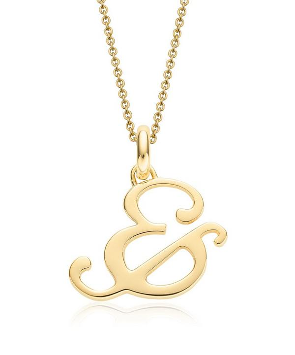 Gold-Plated Alphabet Pendant &