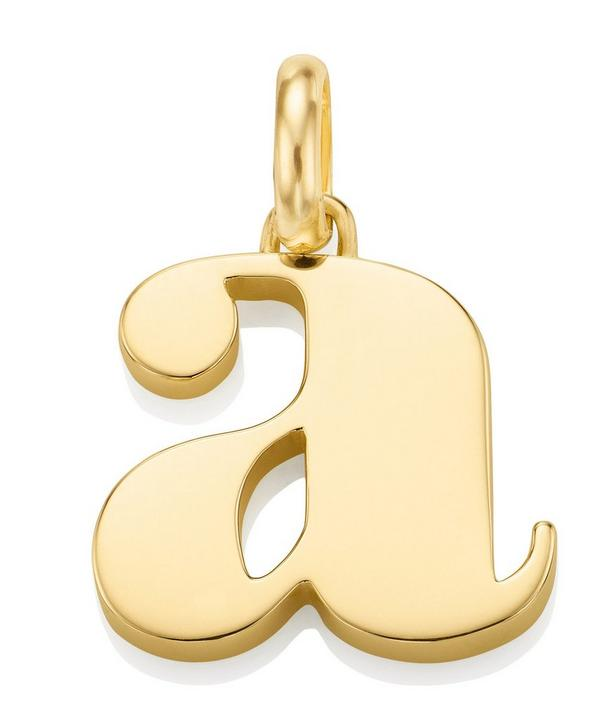 Gold-Plated Alphabet Pendant A