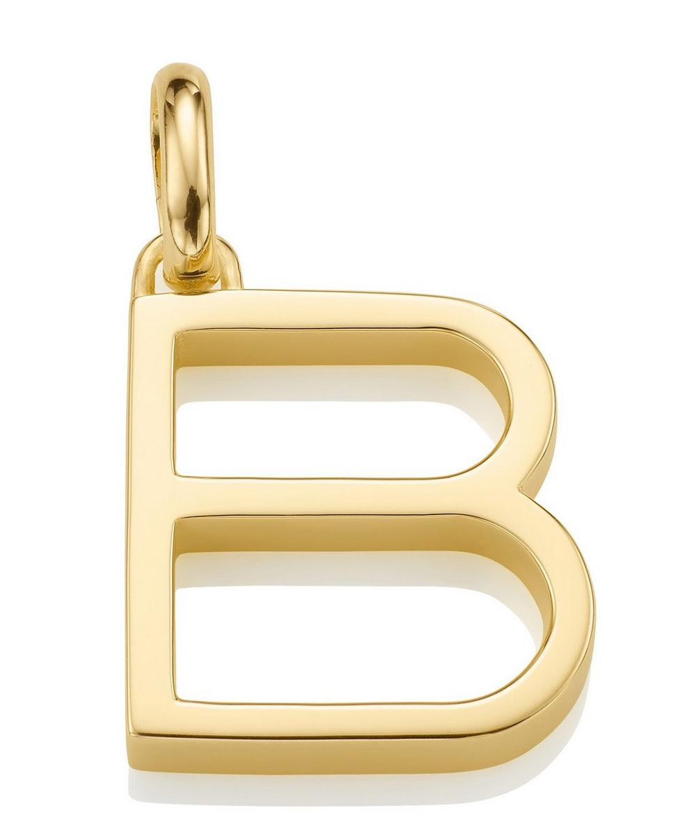 Gold-Plated Alphabet Pendant B