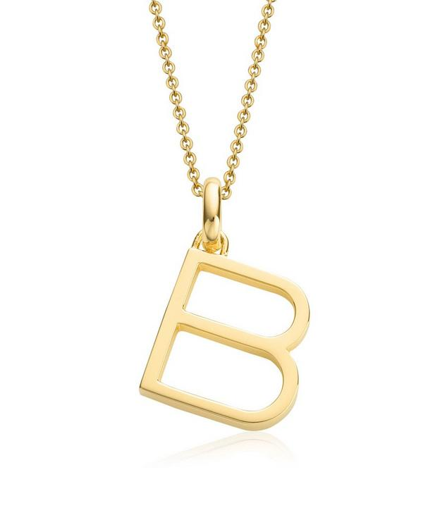 Gold-Plated Alphabet Pendant B