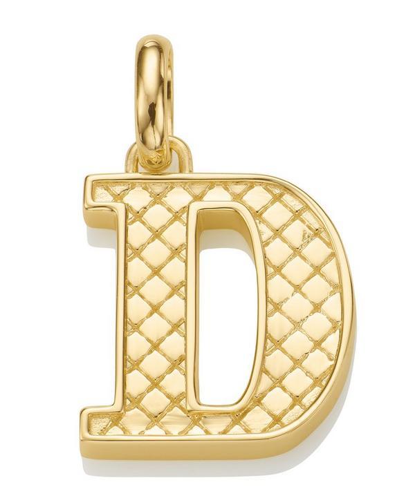 Gold-Plated Alphabet Pendant D