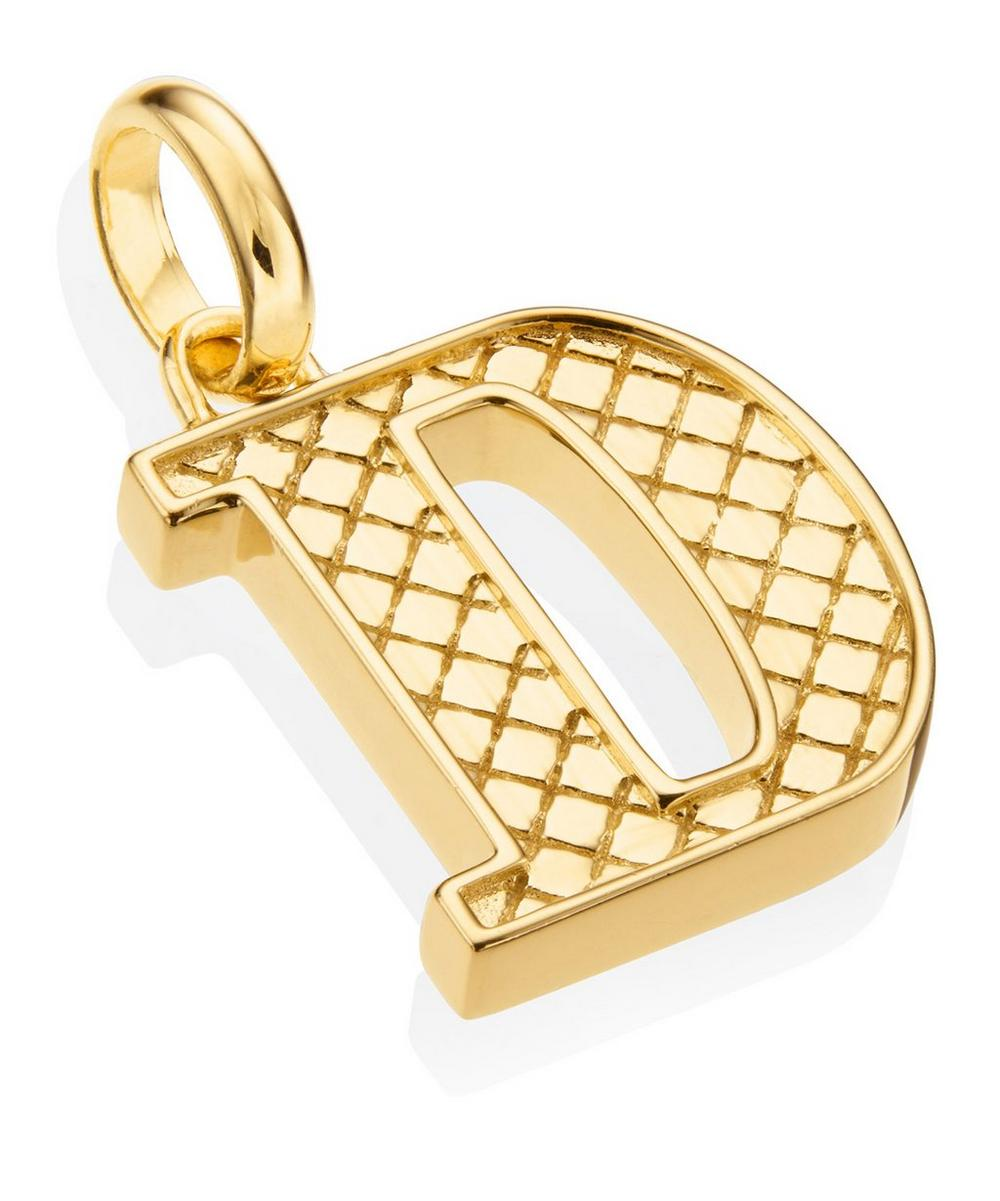 Gold-Plated Alphabet Pendant D