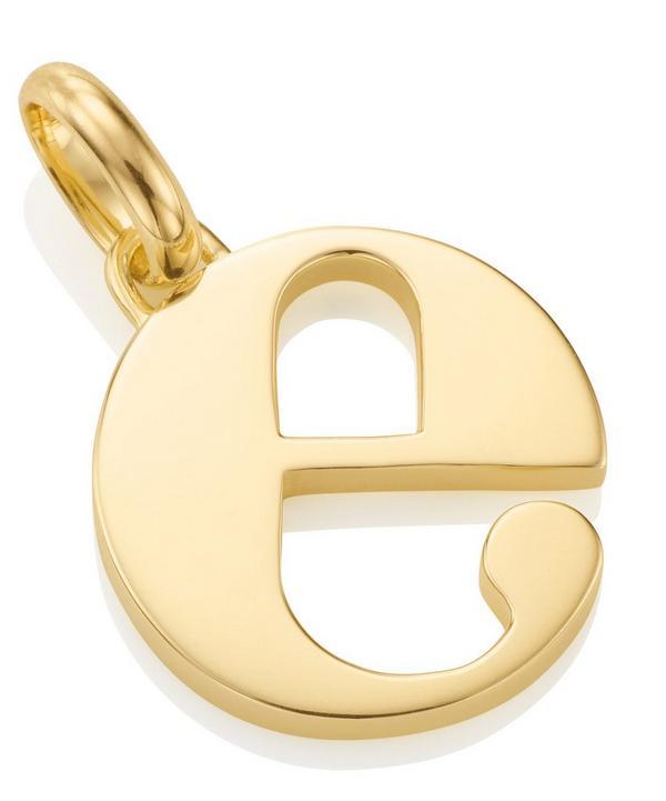 Gold-Plated Alphabet Pendant E