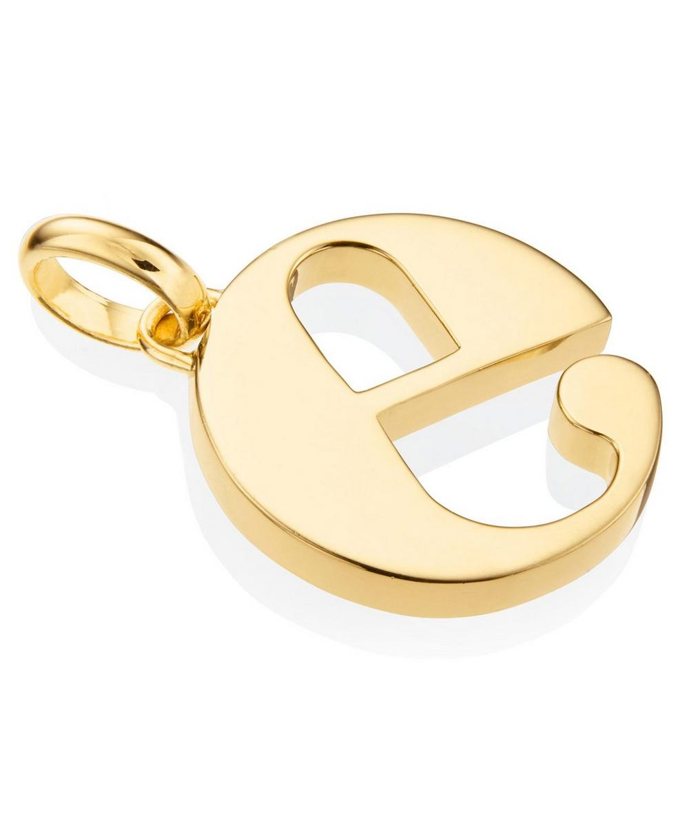Gold-Plated Alphabet Pendant E