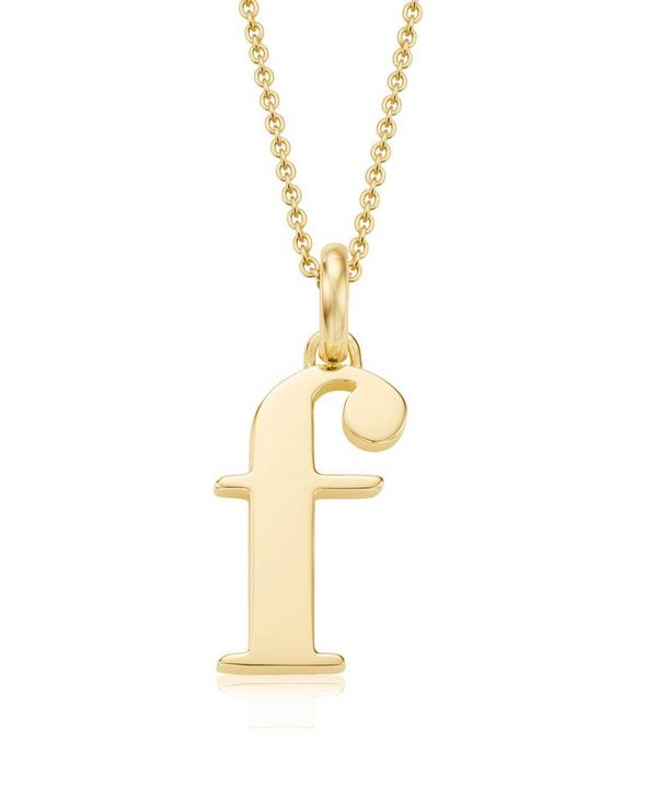 Gold-Plated Alphabet Pendant F