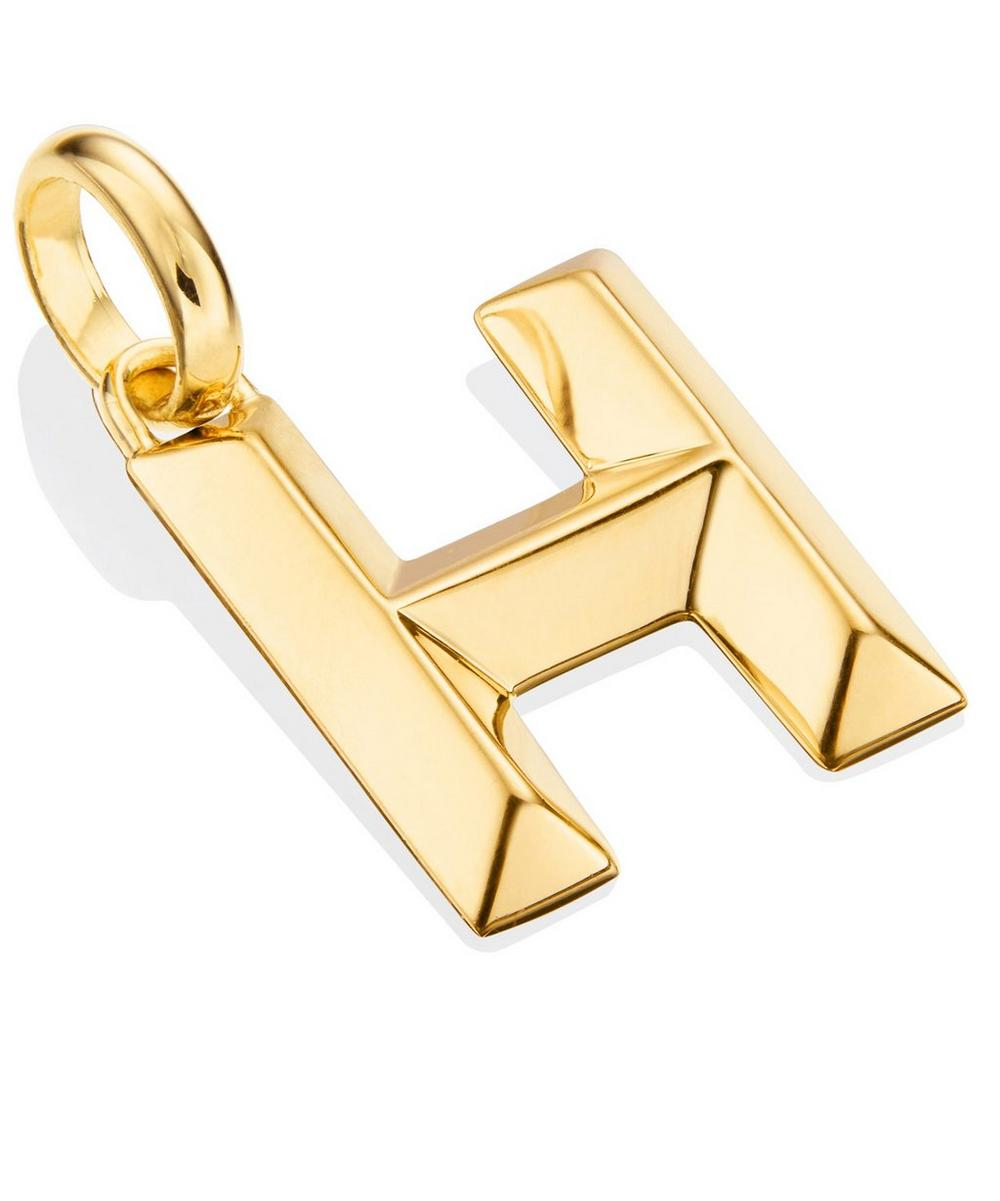 Gold-Plated Alphabet Pendant H