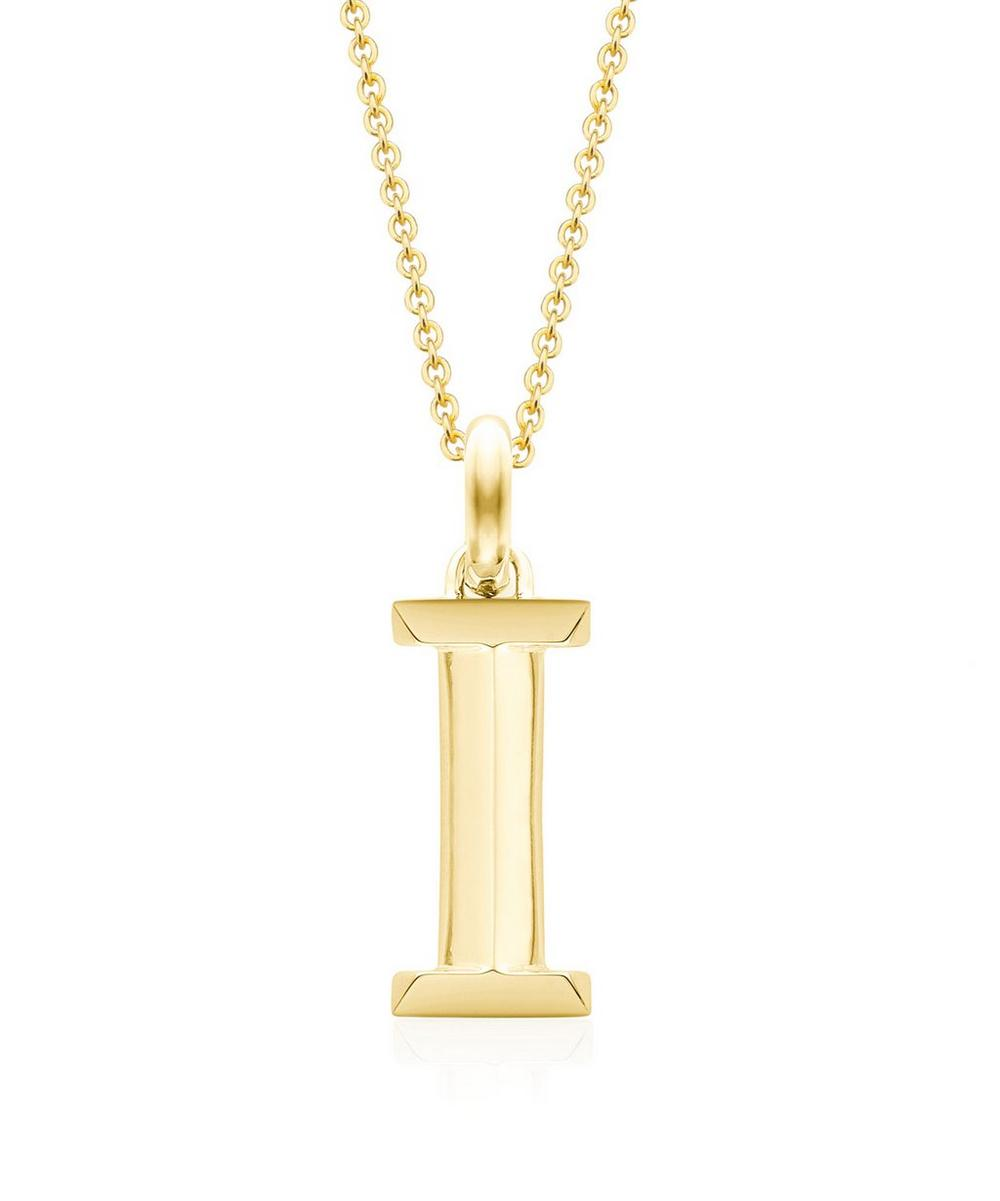 Gold-Plated Alphabet Pendant I