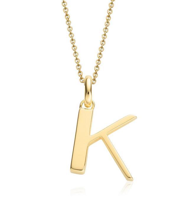Gold-Plated Alphabet Pendant K