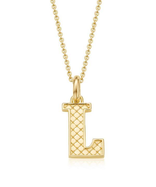 Gold-Plated Alphabet Pendant L