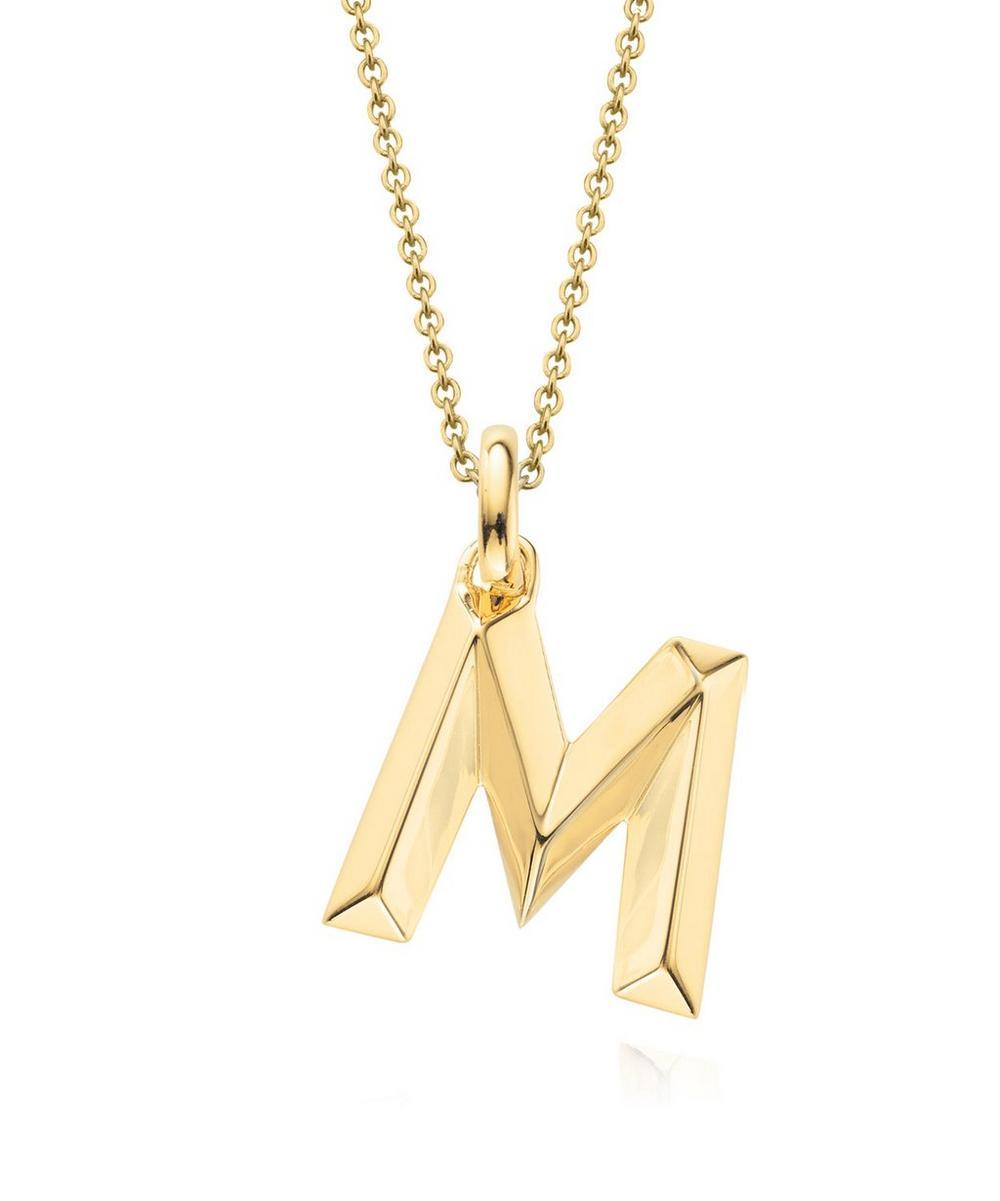 Gold-Plated Alphabet Pendant M
