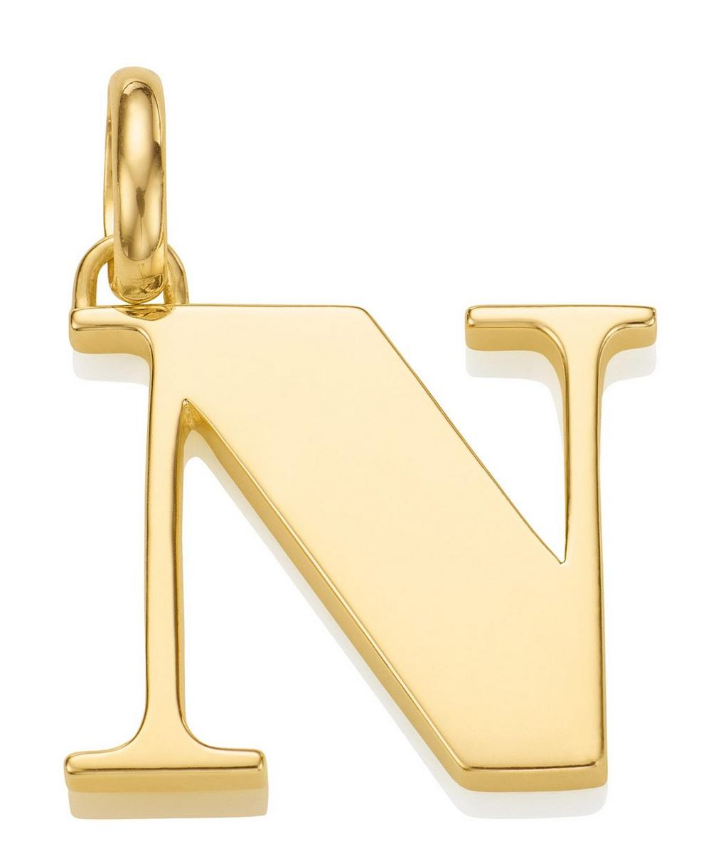Gold-Plated Alphabet Pendant N