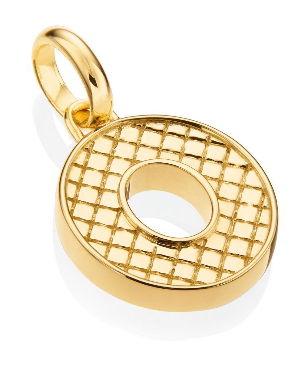Gold-Plated Alphabet Pendant O