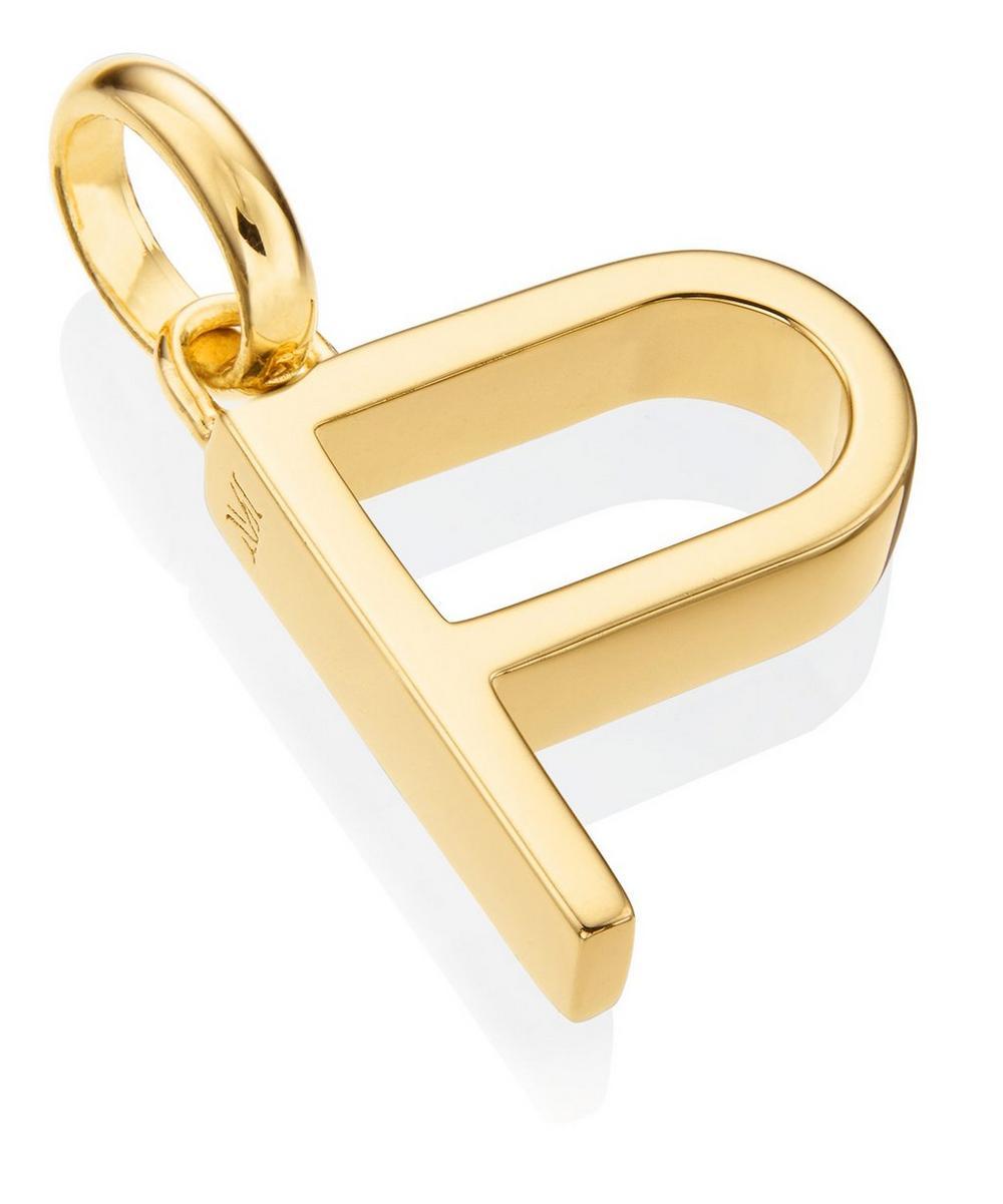 Gold-Plated Alphabet Pendant P