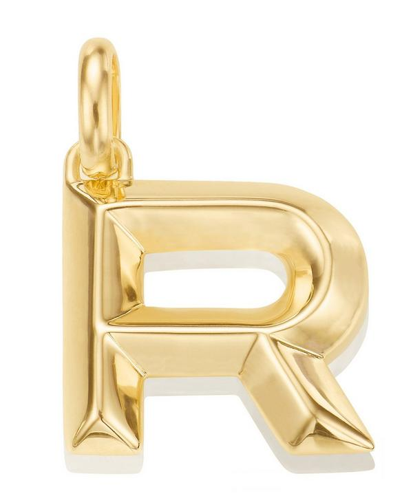Gold-Plated Alphabet Pendant R