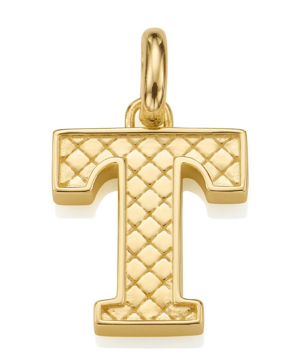 Gold-Plated Alphabet Pendant T