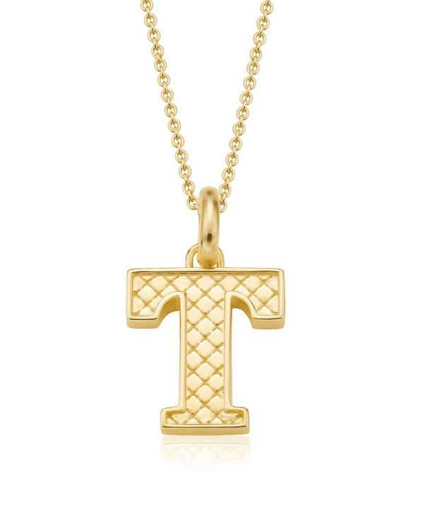 Gold-Plated Alphabet Pendant T