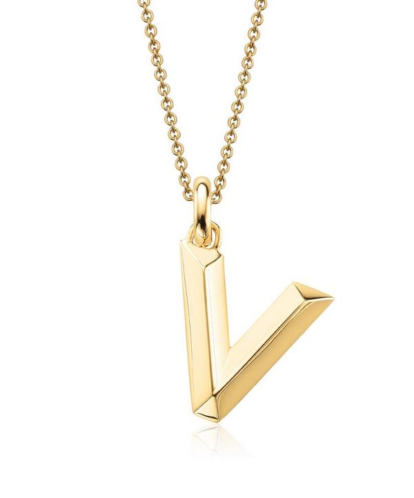 Gold-Plated Alphabet Pendant V